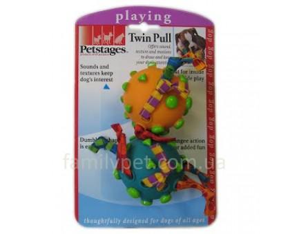 Petstages Игрушка для собак Два мяча на канате