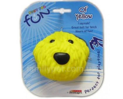 Petstages Игрушка-пищалка для собак виниловая Желтая собака