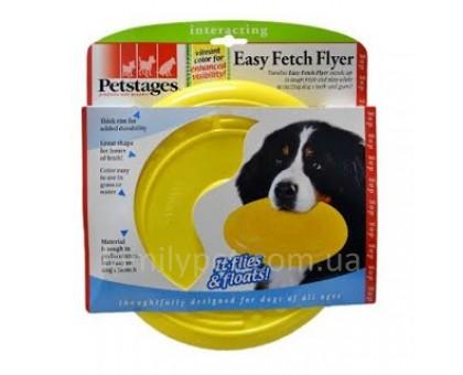 Petstages Игрушка для собак Летающая тарелка Желтая