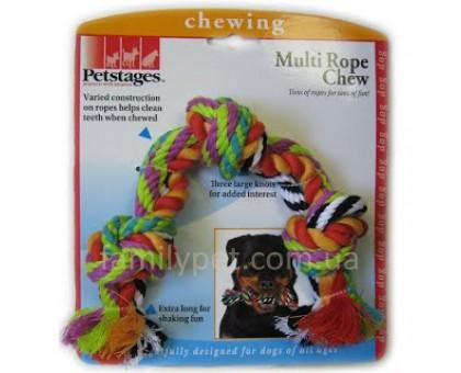 Petstages Игрушка для собак Цветной канат с узлами