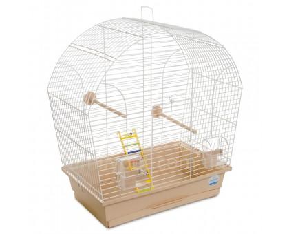 """Клетка д/птиц """"Лина"""" белая/бежевая 44х27х54 см"""