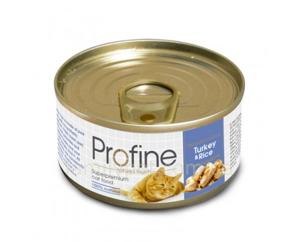 Profine Cat Консервированный корм для котов с индейкой и рисом 70 г