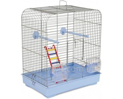 "Клетка д/птиц ""Белла"" белая/светло-голубая 37х25х37 см"