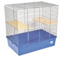 """Клетка для грызунов """"Шиншилла"""" хром-синяя  70х44х66 см"""