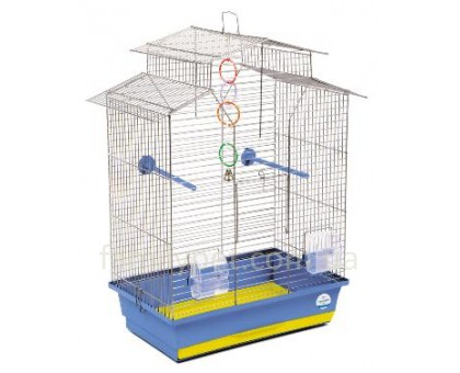 "Клетка для птиц ""Изабель-2"" хром/фиолетовая 44х27х65 см"