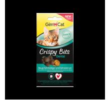 GimCat Crispy Bits Мясные шарики для котов с профилактикой зубного камня 40 г