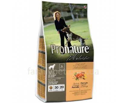 Pronature Holistic Adult Duck&Orange (Пронатюр Холистик) с уткой и апельсинами корм для собак