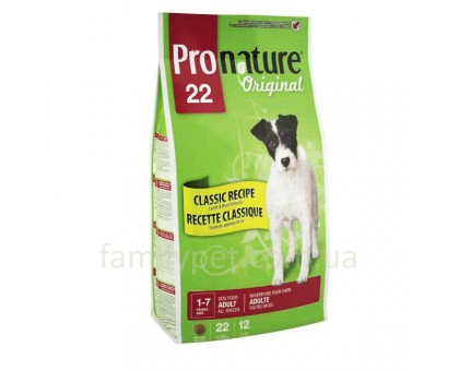 Pronature Original Lamb Adult (Пронатюр Ориджинал) Корм для всех пород собак с ягненком