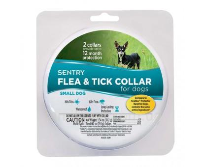 SENTRY Flea&Tick Small Ошейник от блох и клещей для собак малых пород 6 месяцев защиты 36 см