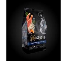 Savory (Сейвори) Fresh Salmon & White Fish - Сухой корм со свежим лососем и белой рыбой для длинношерстных котов