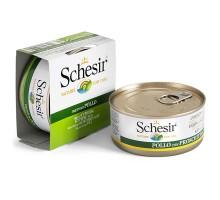 Schesir Chicken Fillet Натуральные консервы для собак с куриным филе в желебанка 150 г