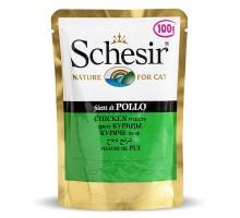 Schesir Chicken Fillet Влажный корм для кошек с  куриным филе в желе пауч 100 г
