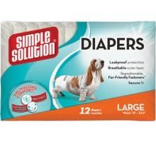Simple Solution Disposable Diapers Large Гигиенические подгузники для животных размер L 12 шт
