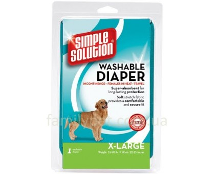Simple Solution Washable Diaper X-Large Многоразовые гигиенические трусы для животных размер XL