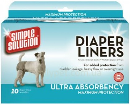 Simple Solution Disposable Diaper Liners -Heavy Flow Гигиенические прокладки для животных 10 шт