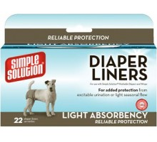 Simple Solution Disposable Diaper Liners - Light Flow Гигиенические прокладки для животных 22 шт