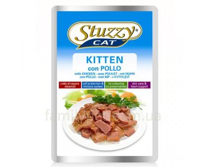 Stuzzy Cat Kitten Консерва корм для котятс курицей в соусе 100 г