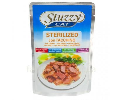 Stuzzy Cat Sterilized Turkey Консервы для стерилизованных кошек с индейкой в соусе100 г