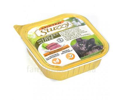 Mister Stuzzy Cat Chicken Liver Консерва для кошек паштет с курицей и печенью 100 г