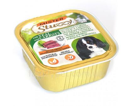 Mister Stuzzy Dog Veal Carrot Консерва для собак мясной паштет с овощами 150 г
