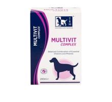 Multivit Complex - это полноценная ежедневная витаминно-минеральная кормовая добавка для собак, подходящая для всех пород и возрастов.