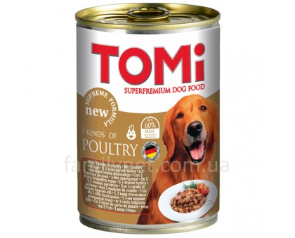 TOMi 3 kinds of poultry Консерва для собак 3 вида птици