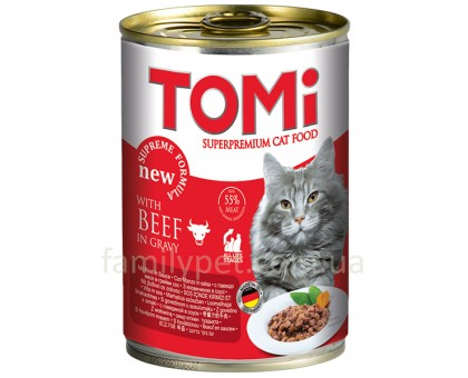 TOMi beef Консерва для кошек с говядиной 400 г
