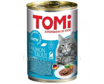 TOMi salmon trout Консерва для кошек с лососем 400 г