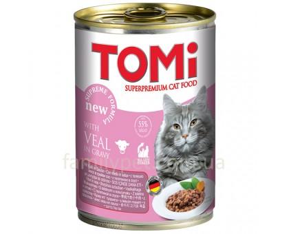 TOMi veal Консерва для котов  с телятиной 400 г