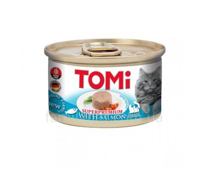 TOMi Salmon Консерва для кошек тунец мусс 85 гр