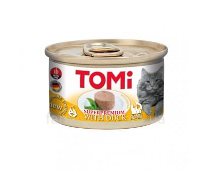 TOMi Duck Консерва для кошек с уткой мусс 85 г