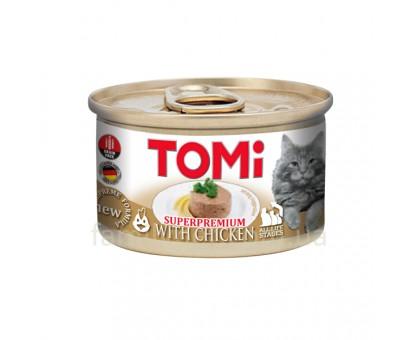 TOMi Chicken Консерва для кошек мусс с курицей 85 г