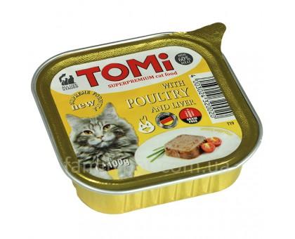 TOMi poultry liver Консерва для кошек с птицей 100 г