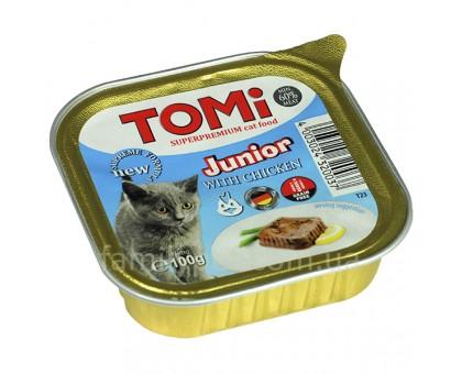 TOMi junior Консерва для котят паштет с курицей 100 г