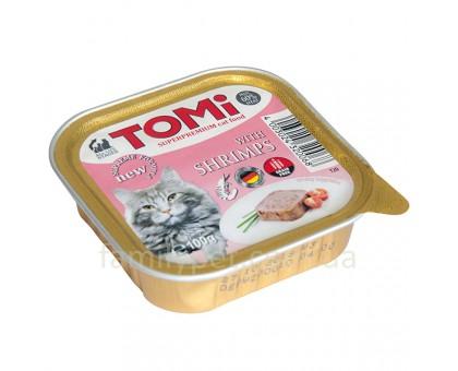 TOMi shrimps Консерва для кошек паштет с креветками 100 г