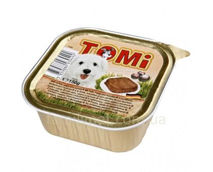 TOMi turkey pasta carrots Консерва для собак паштет с индейкой и морковью 150 г