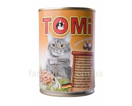 TOMi duck liver Консерва для кошек с уткой и печенью в соусе