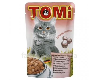 TOMi veal turkey Консерва для кошек с индейкой пауч 100 г