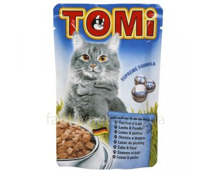 TOMi salmon trout Консерва для кошек с лососем 100 г
