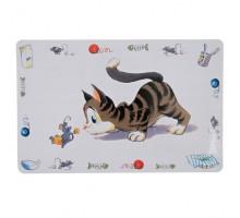 Trixie Comic Cat Коврик под миски для котов 44*28 см