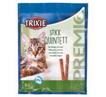 PREMIO Quadro-Sticks Палочки для кошек с печенью и домашней птицей 5 шт