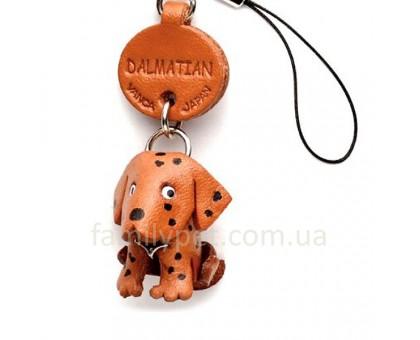 Vanca Dalmatian ДАЛМАТИНЕЦ 3D брелок на мобильный, натуральная кожа