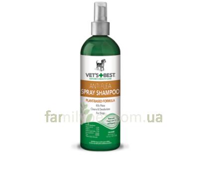 VET`S BEST Natural Flea & Tick Spray Спрей от блох, клещей и москитов для собак 236 мл