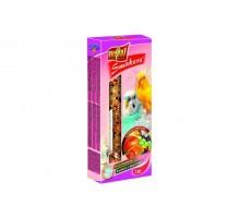 VITAPOL Колба для волнистых попугаев с фруктами (2 шт в упаковке)