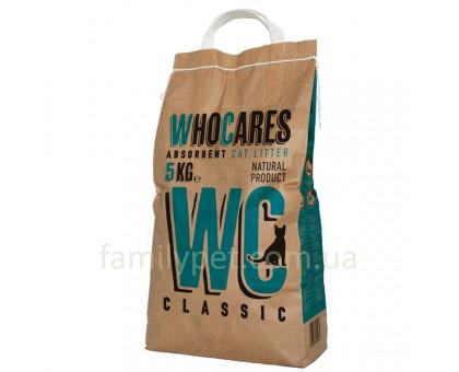 WhoCares Classic Впитывающий наполнитель без запаха для кошачьего наполнителя