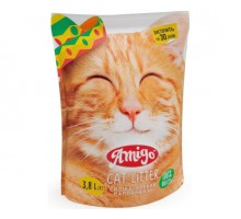 Amigo Silica Cat Litter  Силикагелевый наполнитель для кошачьего туалета 3.7л
