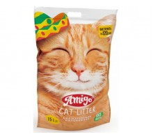 Amigo Silica Cat Litter  Силикагелевый наполнитель для кошачьего туалета 15л