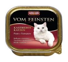 Animonda Консерва для взрослых кастрированных кошек с индейкой и томатами 100 гр