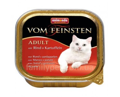 Animonda Консерва для взрослых кошек с говядиной и картошкой 100 гр