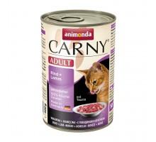 Animonda Carny Консерва для взрослых кошек с говядиной и ягненком 400 гр